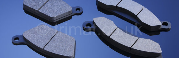 pressed friction sheet, press molded friction materials, molded brake pads, molded press blocks, rigid brake linings