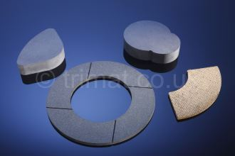 bonded brake pad assemblies, friction blocks, friction segments, friction pucks, friction shims, band brake linings