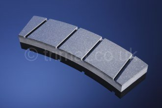 solid woven brake blocks, rigid brake blocks, non-asbestos brake blocks, safety clamp friction material